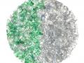 WHITE-GREEN PET FLAKES
